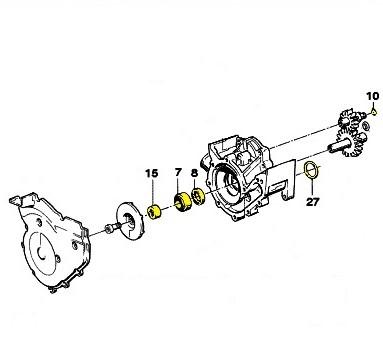 Oil & Water Pump Repair Kit BMW K Bike ; 11 41 1 741 870