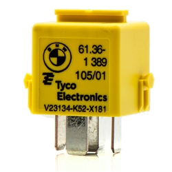 bmw motorcycle relay, BMW, Relay, Motorcycle, Motorrad, 61.36-1 389 105/01, 61 36 1 389 105, 61362389105, Tyco, Bosch, V23134-K52-X181, R45, R65, R80, R100, R1150, R1200, W0133-1629468, B00CA0AO2C, Genuine BMW, Multi Purpose Relay, 5 Prong, Diode Relay