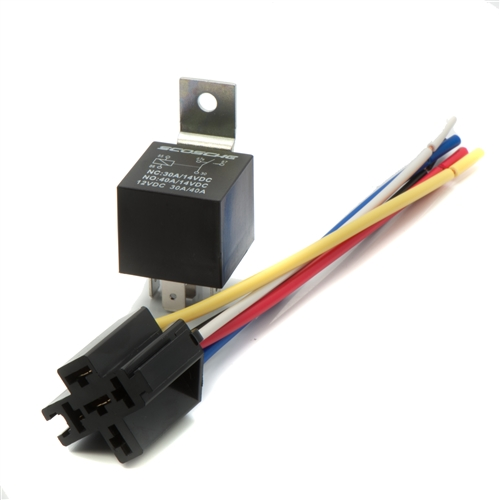 Universal Relay 12v 30/40 Amp with wire harness on