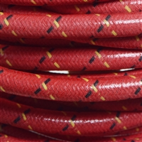 Vintage Spark Plug Wire - Red with Black and Yellow Tracers / EnDuraLast