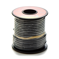 12 gauge wire, spool of wire, wire, black wire, wire by the foot, electric wiring, wiring, spool, 16 gauge, black, copper wire, repair wire, 60 volt wire, 60 v, pvc wire, pvc, spool of copper wire, copper spool, 15' wire, motorcycle wiring, repair wire