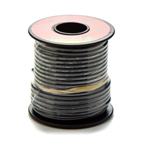 16 gauge wire, spool of wire, wire, black wire, wire by the foot, electric wiring, wiring, spool, 16 gauge, black, copper wire, repair wire, 60 volt wire, 60 v, pvc wire, pvc, spool of copper wire, copper spool, 15' wire, motorcycle wiring, repair wire