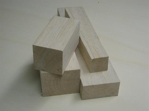 1 x 2 x 12 balsa wood blocks
