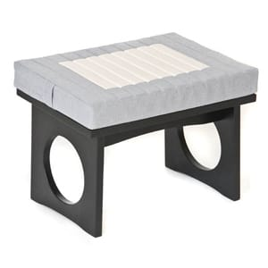 Cloud Meditation Bench, Zen Black with Meditation Bench Cushion