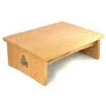Low Cloud Meditation Bench - Natural finish