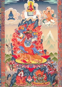 Dorje Trollo Karma Pakshi by Greg Smith thangka print 5x7