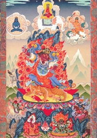 Dorje Trollo Karma Pakshi by Greg Smith thangka print 8x10