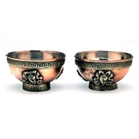 Copper Tibetan Water Offering Bowls