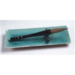 Black Handle Horsehair Bristle Calligraphy Brush 11""