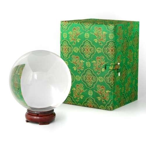 Crystal Ball with Wooden Stand 100 mm (4 inches)