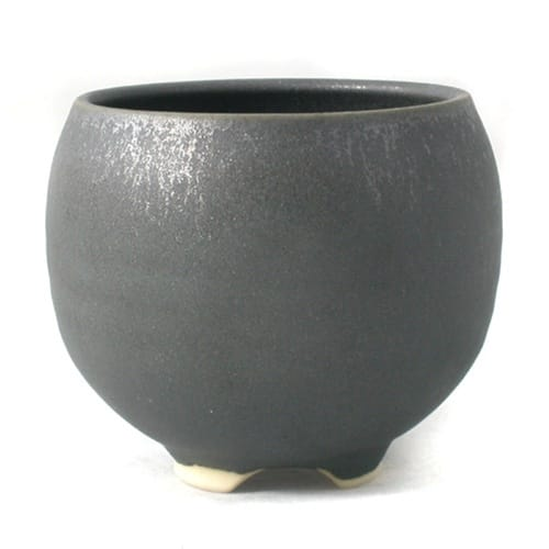 Ceramic Incense Bowl with Iron Crystal Glaze