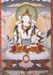 "Vajrasattva with consort by Noedup Rongae print 5""x7"""
