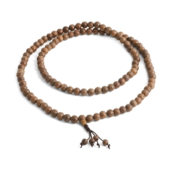 Phoenix Tail Wood Mala 8mm Beads