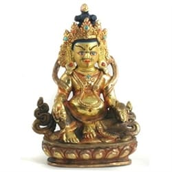 Seated Jambhala Buddha Statue, 3.5 inches