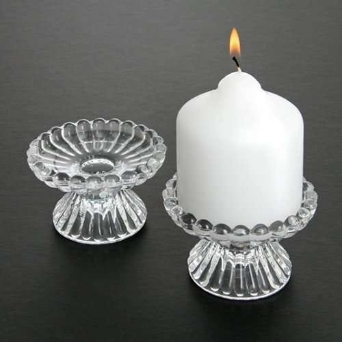 Glass Candle Holder for Pillar or Formal Candles