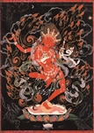 Vajrayogini by Greg Smith black background thangka print 5x7