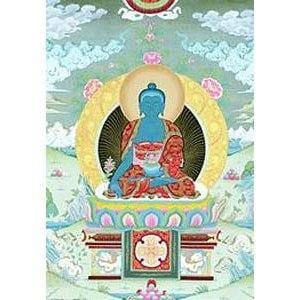 Healing Buddha Laminated Card