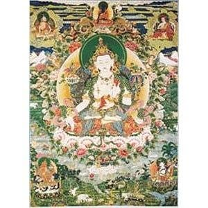 White Manjushri Laminated Card