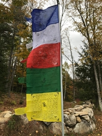 Tibetan Prayer Flag Vertical Banner 5 - 1/2 Feet High