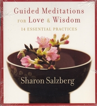Guided Meditations for Love and Wisdom by Sharon Salzberg on 2 CDs