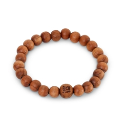 Fragrant Cedar Wood Wrist Mala