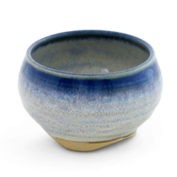 Ceramic Incense Burner (Blue Rim Glaze)