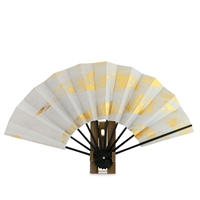 White Fan with Gold Design