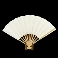 Plain White Fan with Stand