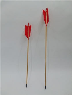 Display arrow with red fletching
