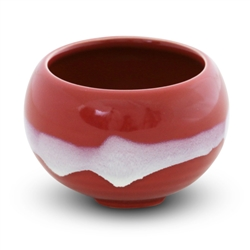 Ceramic Incense Burner (Crimson Glaze)