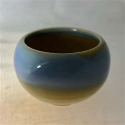 Ceramic Incense Burner (Azure Glaze)
