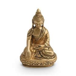 Small Brass Buddha Statue, 3 inches high