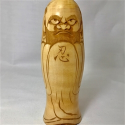 "7.5"" high Carved Wooden Daruma"