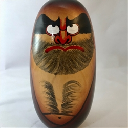 "7.75"" high Painted Wooden Daruma"