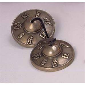 Dingsha Cymbals with Mantra
