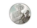 The Bone Player, Sterling Silver Medallion
