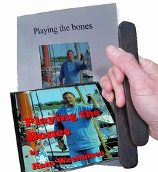 Hans Weehuizen Playing the Bones CD, Guidebook, and 'Old Dutch' Bentwood Bones