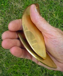 Traditional Chinese Brass Kuai Ban Clappers