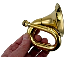 Mini Brass Bulb Horn, Bell Only (no bulb, no reed)
