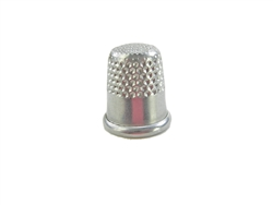 "14 mm Rhythm Patch Heavy Duty Aluminum Thimble, Recessed-Top ""Quilter"", Round Collar"