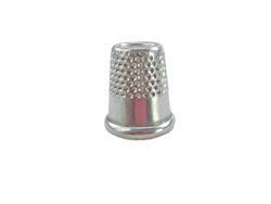 "14.5 mm Rhythm Patch Heavy Duty Aluminum Thimble, Recessed-Top ""Quilter"", Round Collar"