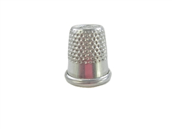 "15 mm Rhythm Patch Heavy Duty Aluminum Thimble, Recessed-Top ""Quilter"", Round Collar"