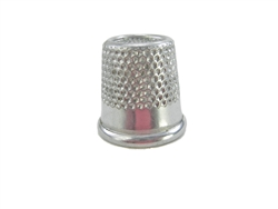"18 mm Rhythm Patch Heavy Duty Aluminum Thimble, Recessed-Top ""Quilter"", Round Collar"