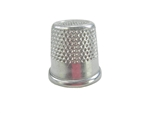 "20 mm Rhythm Patch Heavy Duty Aluminum Thimble, Recessed-Top ""Quilter"", Round Collar"