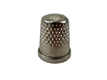 Rhythm Patch Nickel Plated Brass Thimble, Dome Top, Flat Collar, 13 mm