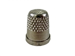 Rhythm Patch Nickel Plated Brass Thimble, Dome Top, Flat Collar, 14 mm
