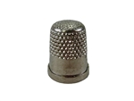 Rhythm Patch Nickel Plated Brass Thimble, Dome Top, Flat Collar, 14.5 mm