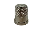 Rhythm Patch Nickel Plated Brass Thimble, Dome Top, Flat Collar, 15 mm
