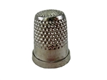 Rhythm Patch Nickel Plated Brass Thimble, Dome Top, Flat Collar, 16 mm