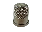 Rhythm Patch Nickel Plated Brass Thimble, Dome Top, Flat Collar, 17 mm
